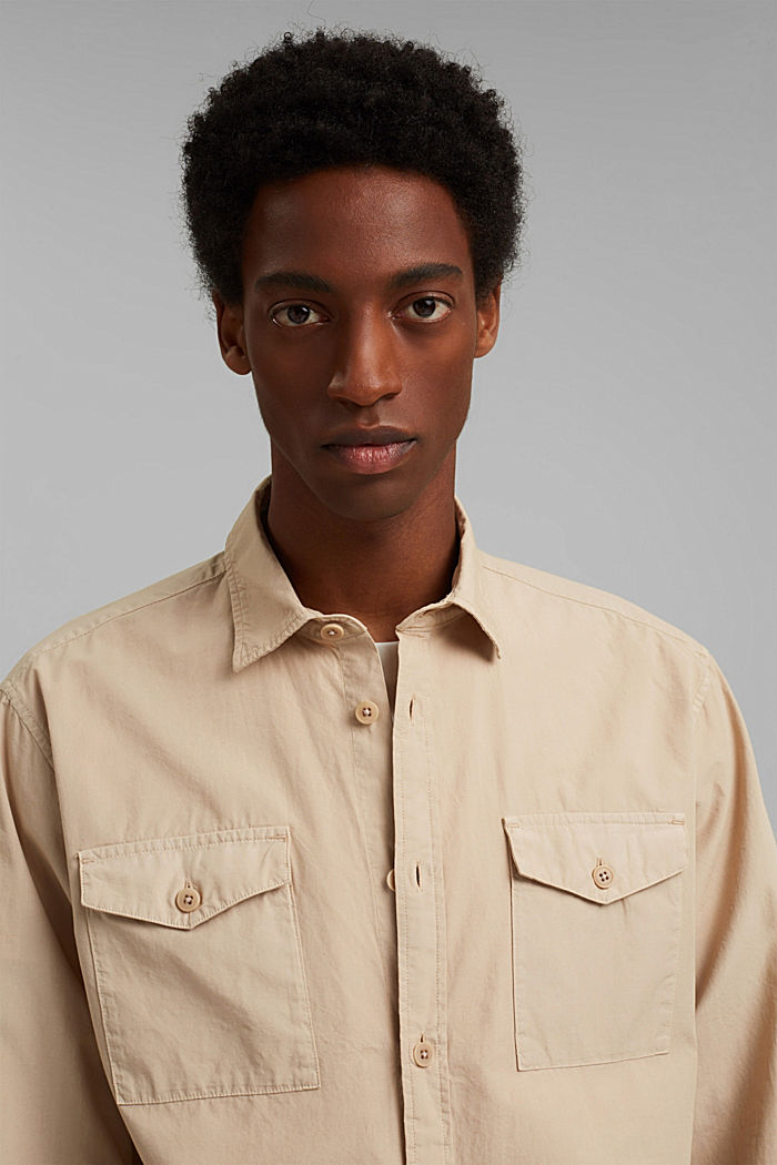 #ReimagineNaturalLifestyle: chemise en coton, LIGHT BEIGE, detail image number 6