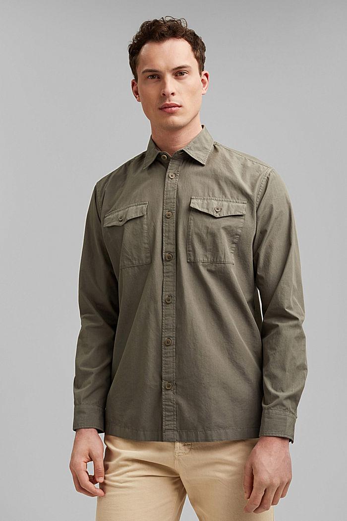 #ReimagineNaturalLifestyle: katoenen overhemd, DARK KHAKI, detail image number 0