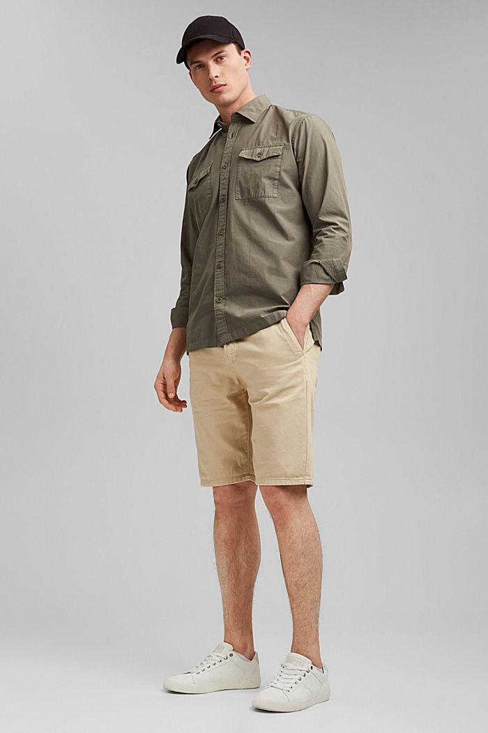 #ReimagineNaturalLifestyle: katoenen overhemd, DARK KHAKI, detail image number 1