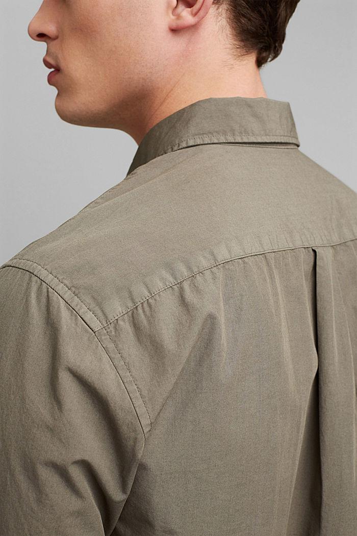 #ReimagineNaturalLifestyle: katoenen overhemd, DARK KHAKI, detail image number 5