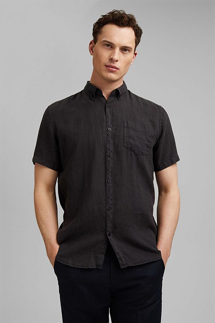 #ReimagineNaturalLifestyle: Hemd aus Leinen, BLACK, detail image number 0