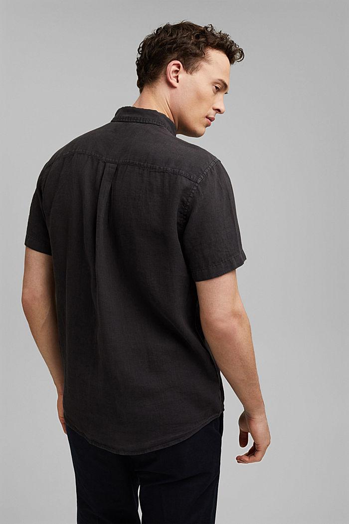 #ReimagineNaturalLifestyle: Hemd aus Leinen, BLACK, detail image number 3
