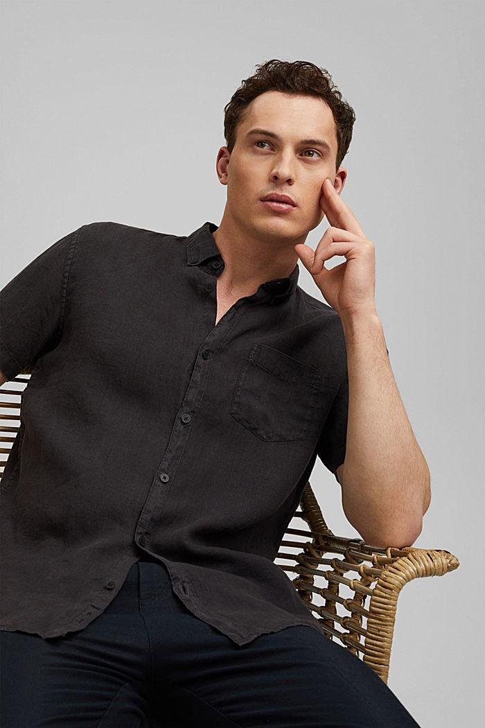 #ReimagineNaturalLifestyle: Hemd aus Leinen, BLACK, detail image number 5