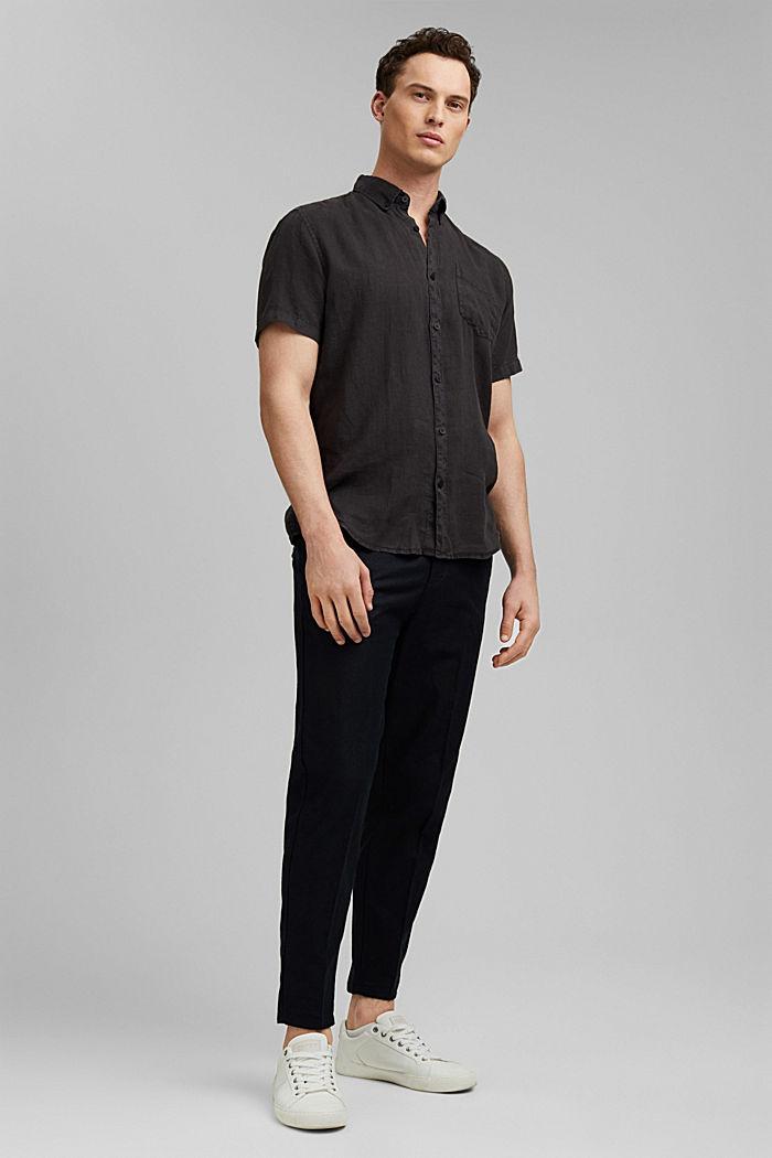 #ReimagineNaturalLifestyle: Hemd aus Leinen, BLACK, detail image number 1