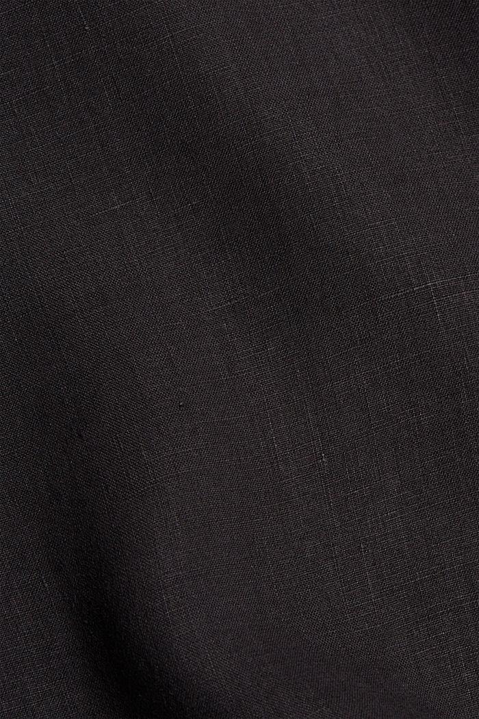 #ReimagineNaturalLifestyle: Hemd aus Leinen, BLACK, detail image number 4