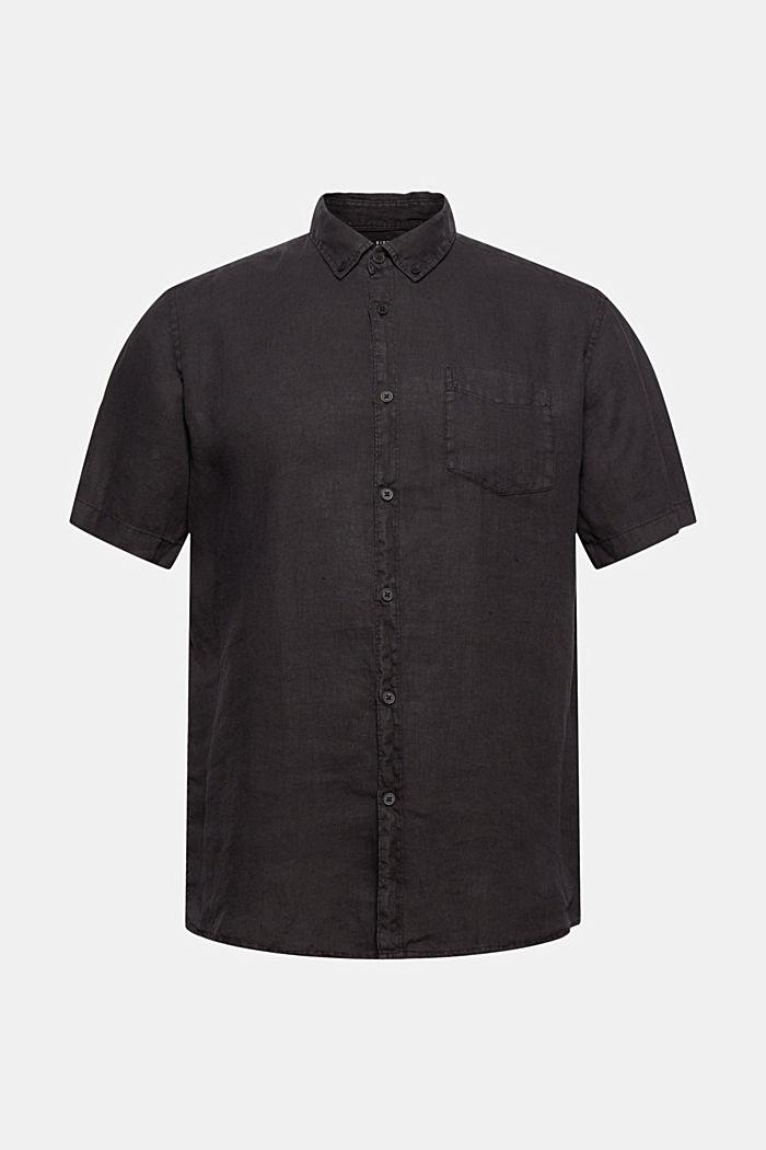 #ReimagineNaturalLifestyle: Hemd aus Leinen, BLACK, detail image number 6