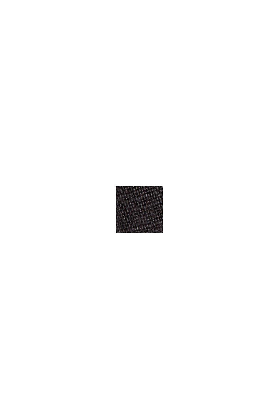 #ReimagineNaturalLifestyle: Hemd aus Leinen, BLACK, swatch