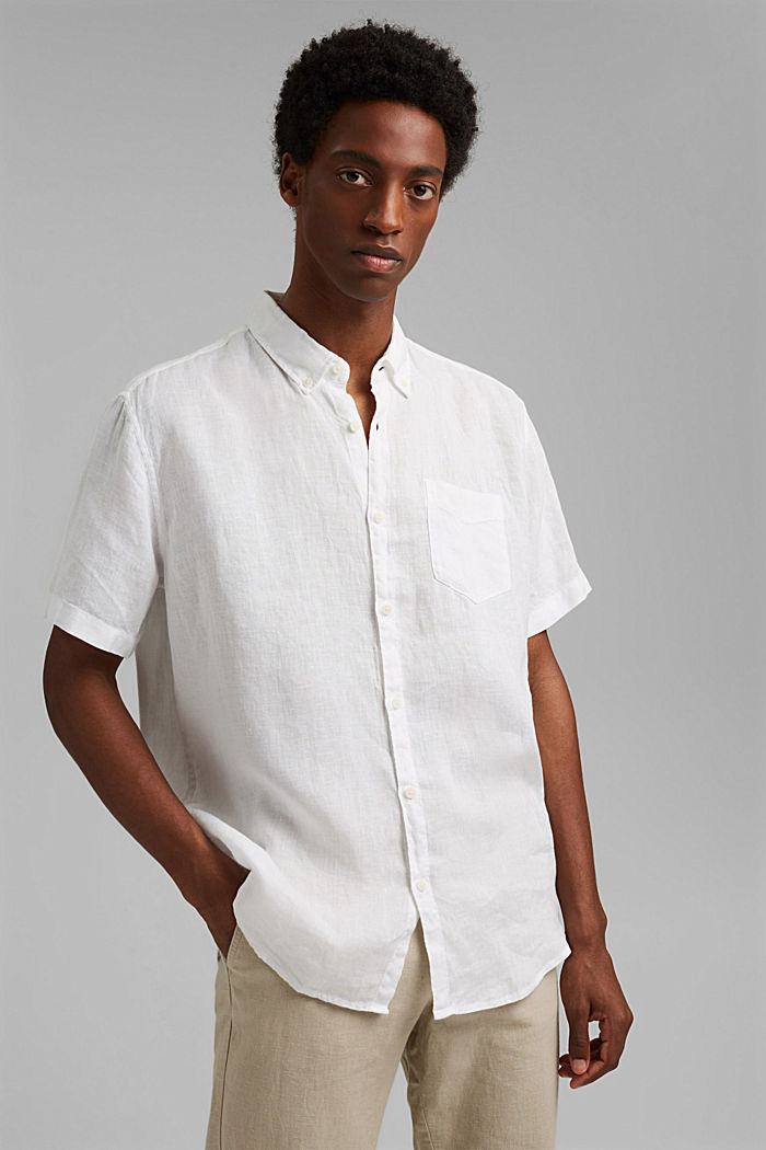 #ReimagineNaturalLifestyle: Shirt made of linen, WHITE, detail image number 0