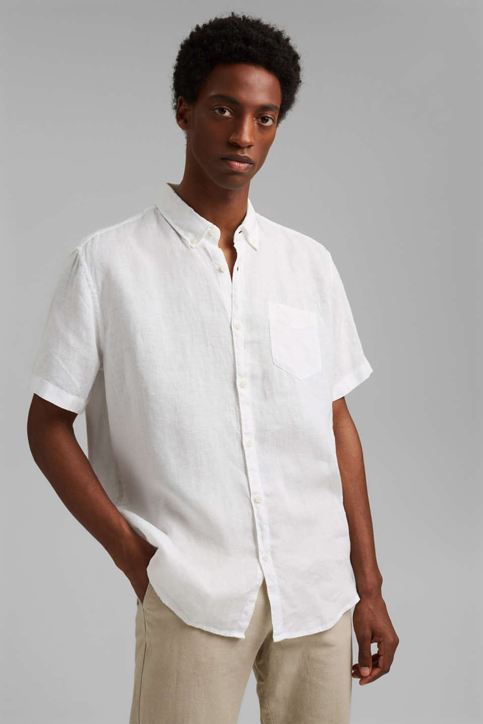 Esprit - #ReimagineNaturalLifestyle: Shirt made of linen