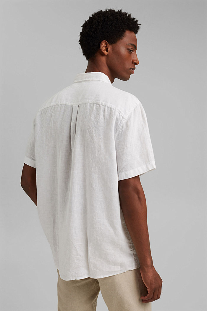 #ReimagineNaturalLifestyle: Shirt made of linen, WHITE, detail image number 3