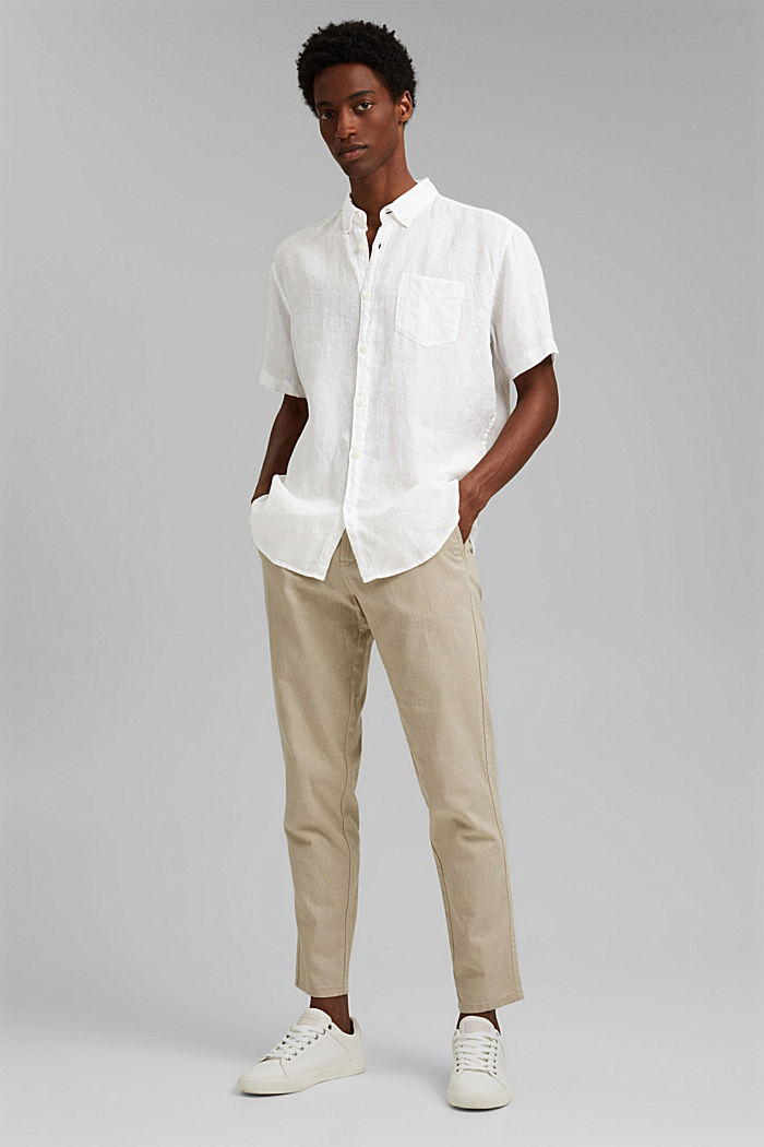 #ReimagineNaturalLifestyle: Shirt made of linen, WHITE, detail image number 1