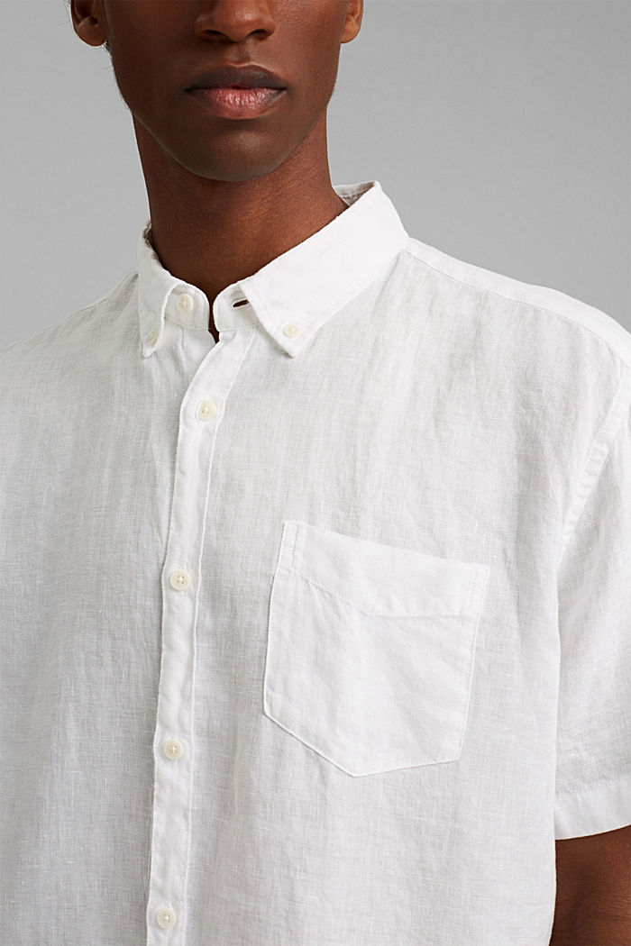 #ReimagineNaturalLifestyle: Shirt made of linen, WHITE, detail image number 2