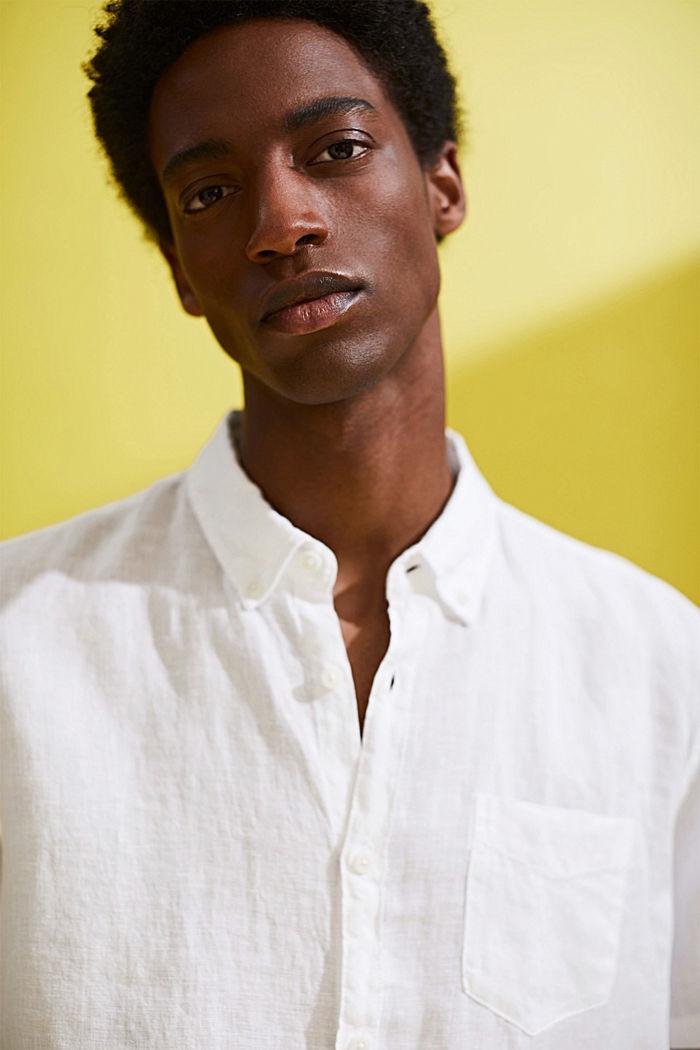 #ReimagineNaturalLifestyle: overhemd van linnen, WHITE, detail image number 6