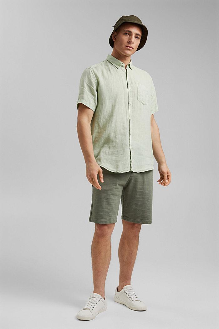 #ReimagineNaturalLifestyle: camisa de lino, PASTEL GREEN, detail image number 1