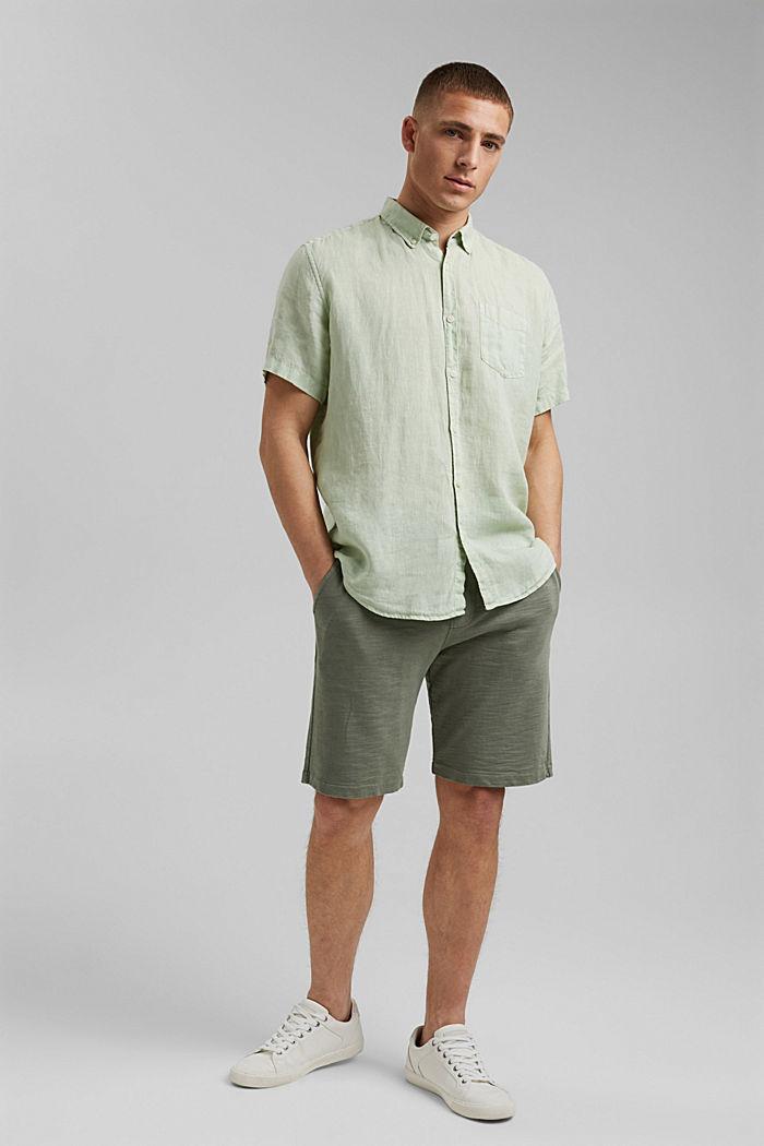 #ReimagineNaturalLifestyle: camisa de lino, PASTEL GREEN, detail image number 5