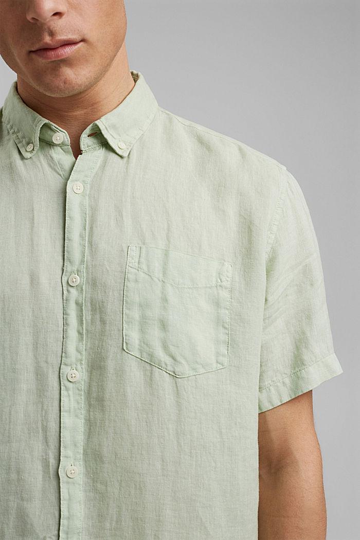 #ReimagineNaturalLifestyle: camisa de lino, PASTEL GREEN, detail image number 2