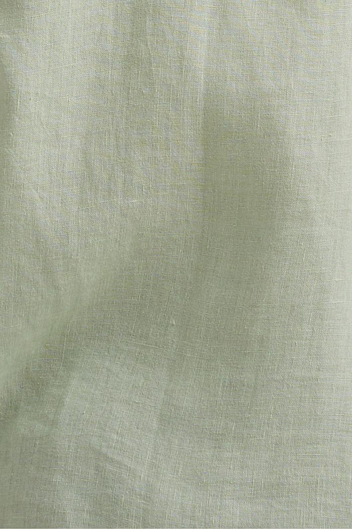 #ReimagineNaturalLifestyle: camisa de lino, PASTEL GREEN, detail image number 4
