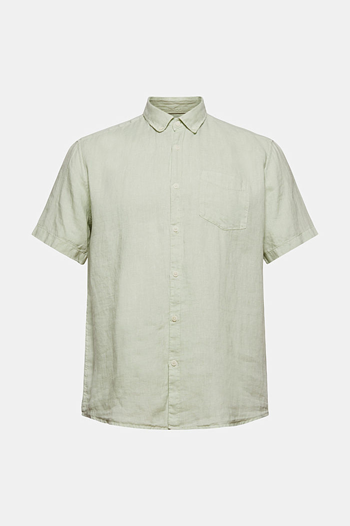 #ReimagineNaturalLifestyle: camisa de lino, PASTEL GREEN, overview