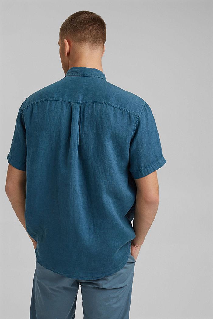 #ReimagineNaturalLifestyle: Shirt made of linen, TEAL BLUE, detail image number 3