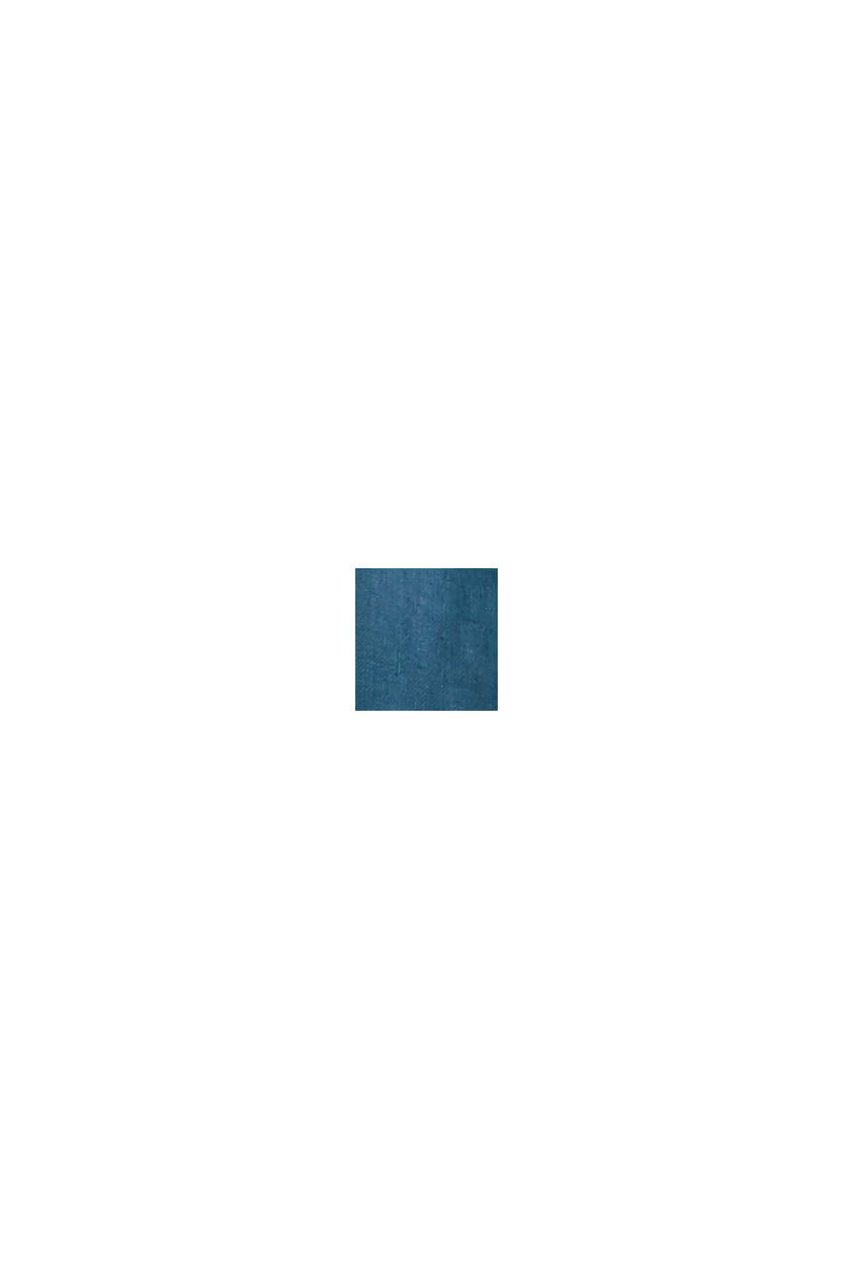 #ReimagineNaturalLifestyle: overhemd van linnen, TEAL BLUE, swatch