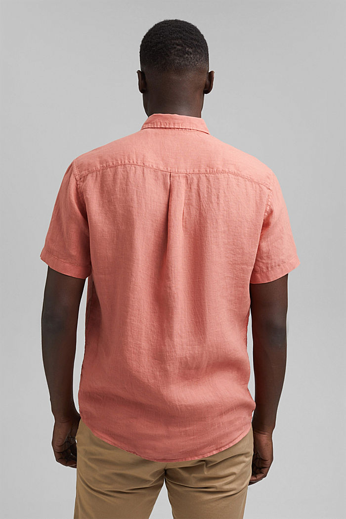 #ReimagineNaturalLifestyle: Shirt made of linen, CORAL RED, detail image number 3