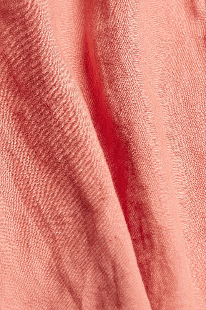 #ReimagineNaturalLifestyle: overhemd van linnen, CORAL RED, detail image number 4