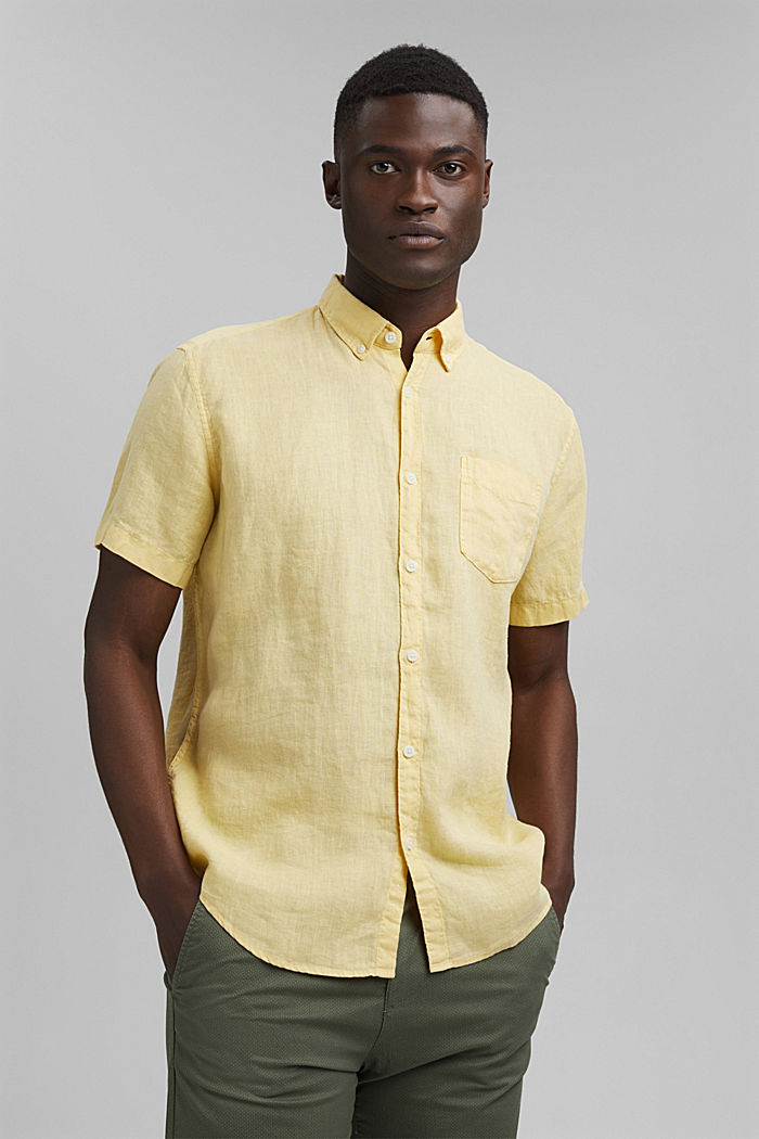 #ReimagineNaturalLifestyle: Shirt made of linen, LIGHT YELLOW, detail image number 0