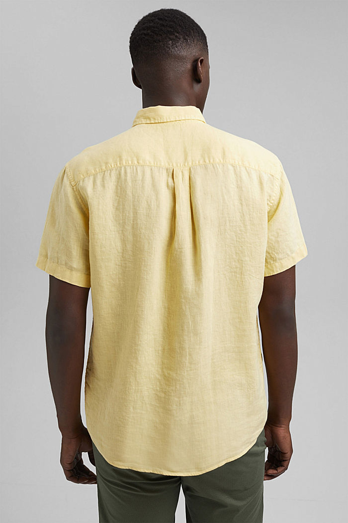 #ReimagineNaturalLifestyle: Shirt made of linen, LIGHT YELLOW, detail image number 3