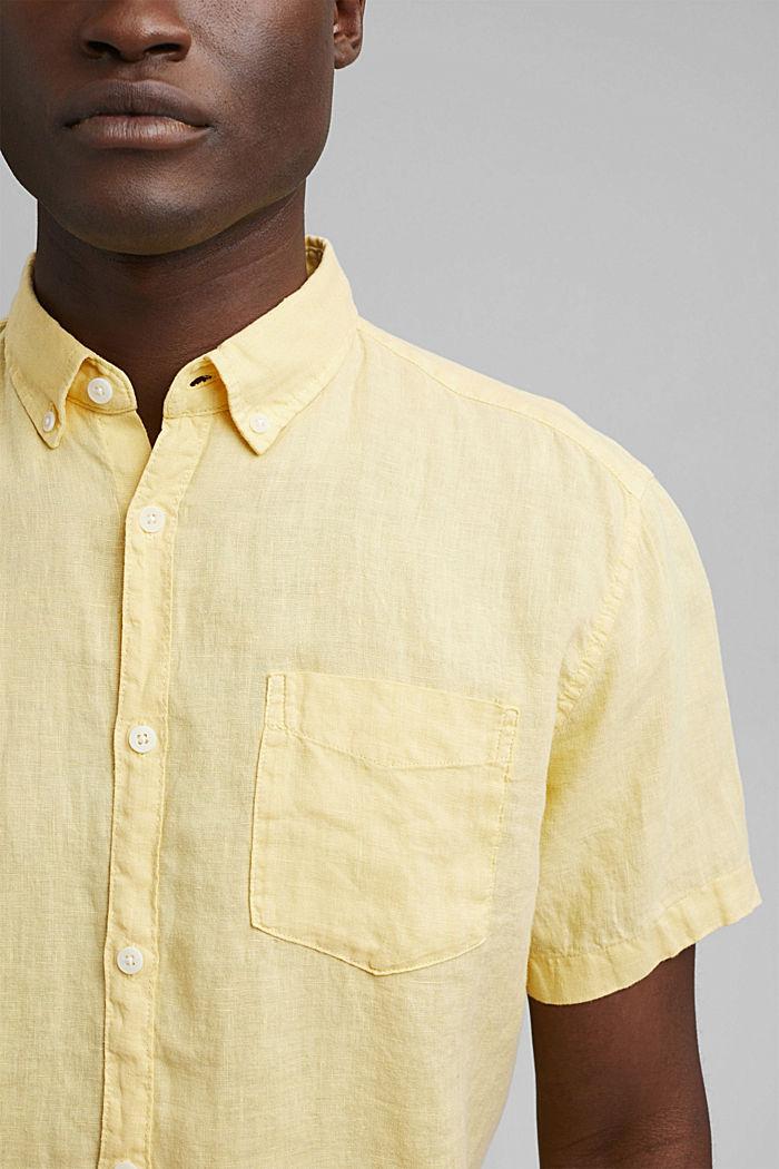 #ReimagineNaturalLifestyle: Shirt made of linen, LIGHT YELLOW, detail image number 2