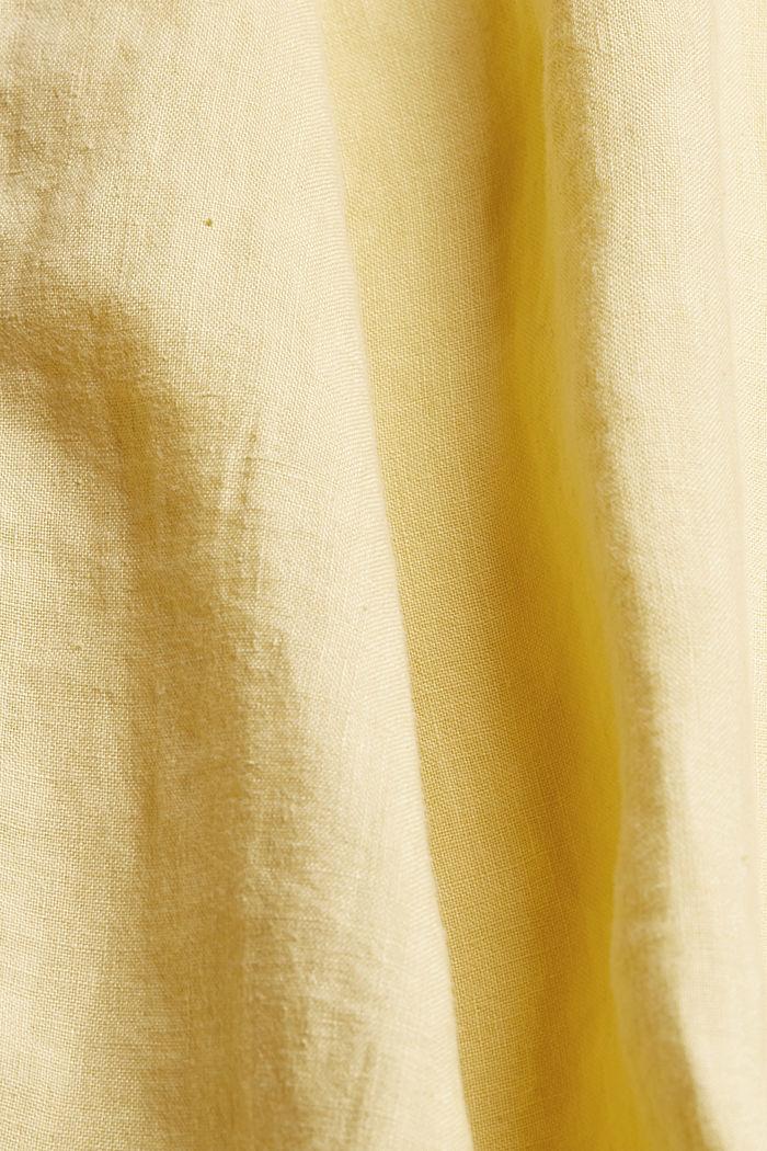 #ReimagineNaturalLifestyle: Shirt made of linen, LIGHT YELLOW, detail image number 4