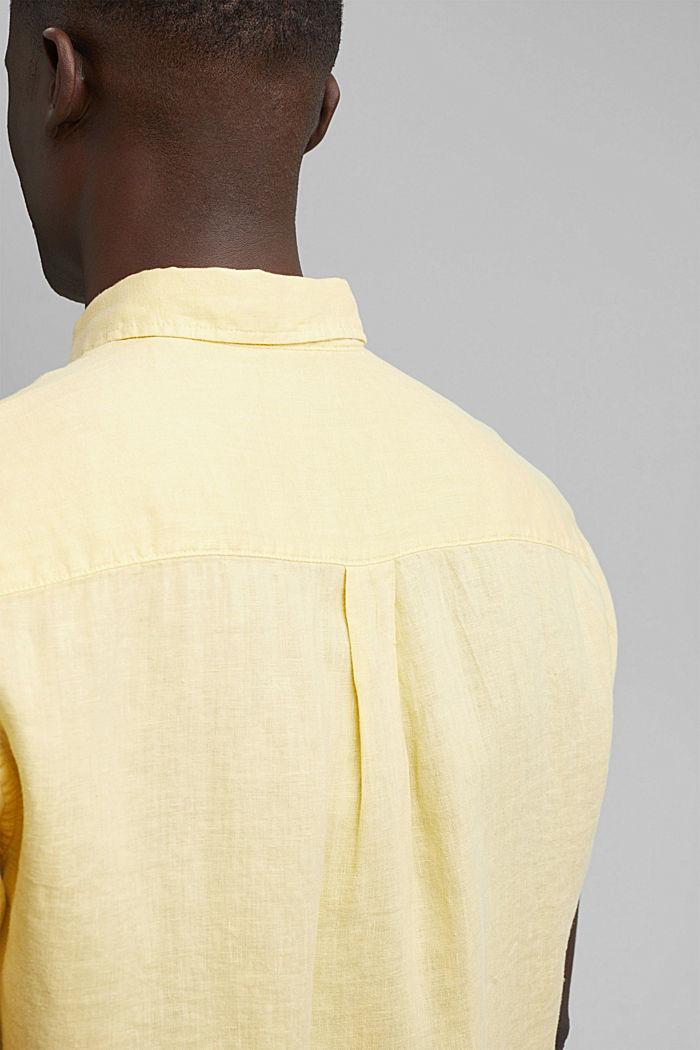 #ReimagineNaturalLifestyle: Hemd aus Leinen, LIGHT YELLOW, detail image number 5