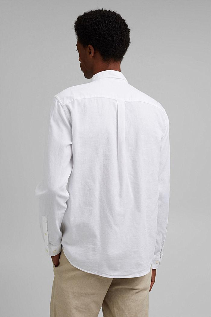 Struktur-Hemd aus 100% Organic Cotton, WHITE, detail image number 3