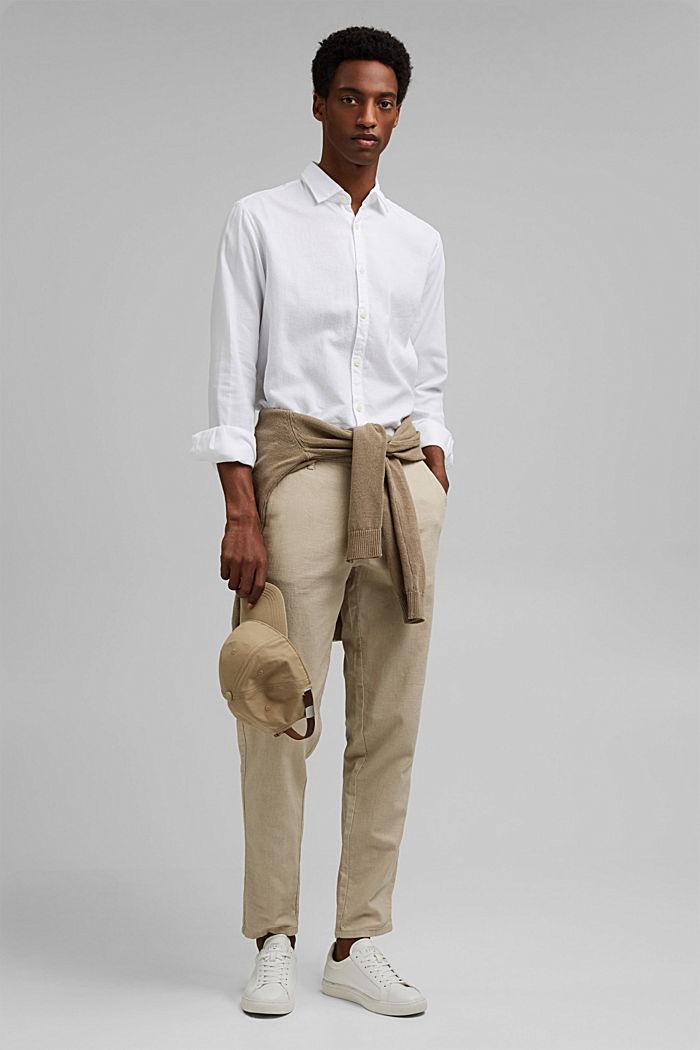 Struktur-Hemd aus 100% Organic Cotton, WHITE, detail image number 1