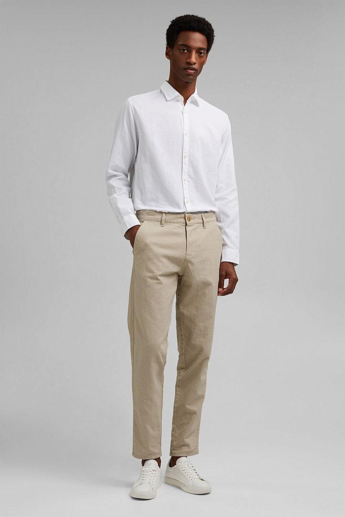 Struktur-Hemd aus 100% Organic Cotton, WHITE, detail image number 8