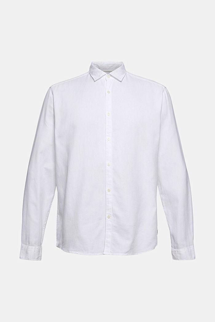 Gestructureerd overhemd van 100% biologisch katoen