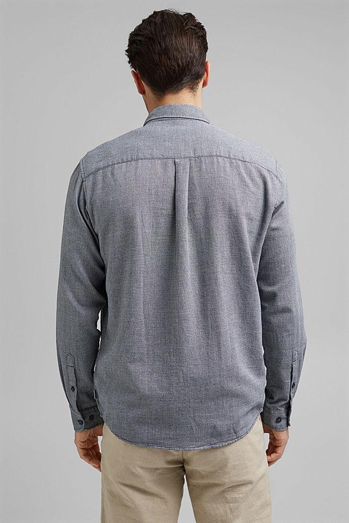 Gestructureerd overhemd van 100% biologisch katoen, NAVY, detail image number 3