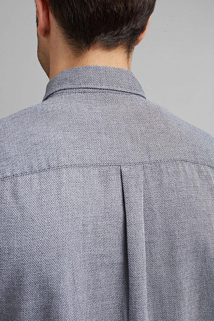 Gestructureerd overhemd van 100% biologisch katoen, NAVY, detail image number 2