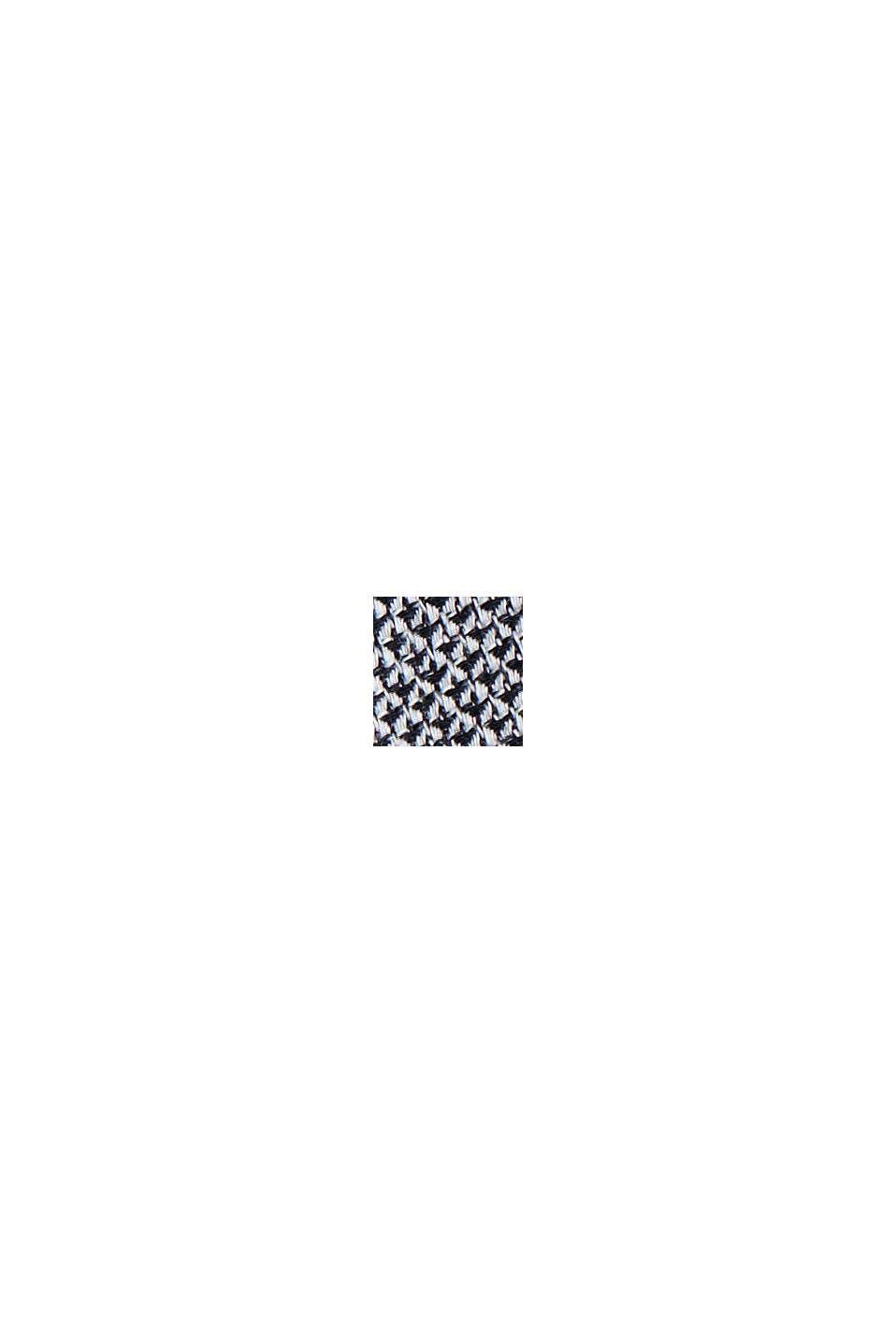 Gestructureerd overhemd van 100% biologisch katoen, NAVY, swatch