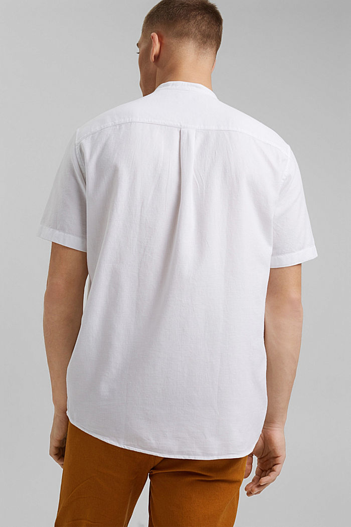 Kurzarm-Hemd mit Struktur, Organic Cotton, WHITE, detail image number 3