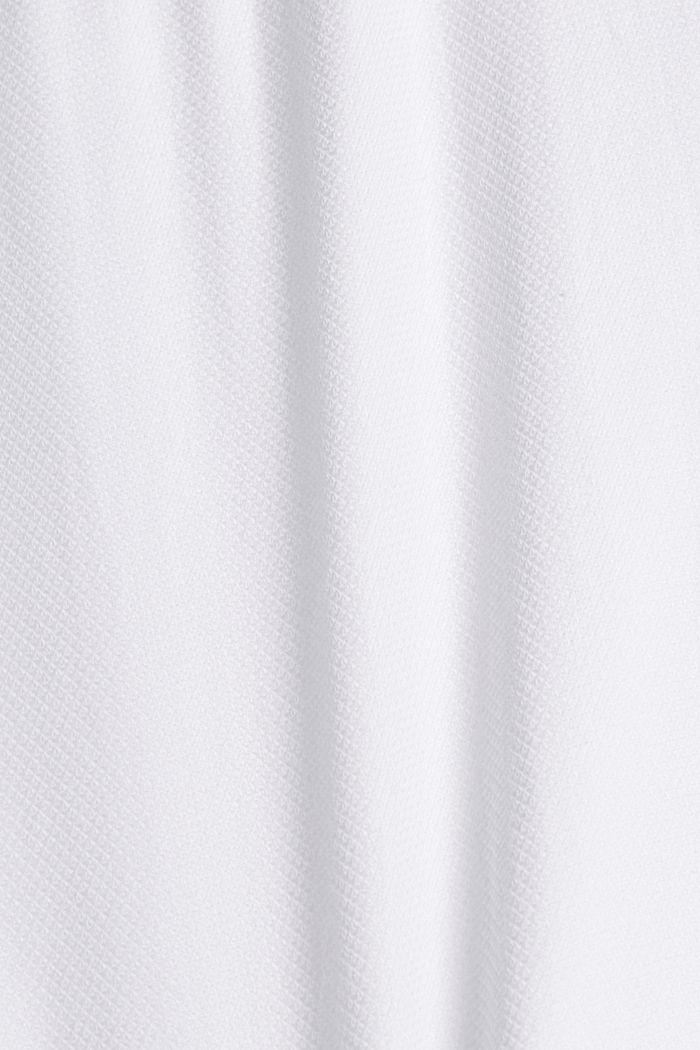 Kurzarm-Hemd mit Struktur, Organic Cotton, WHITE, detail image number 4