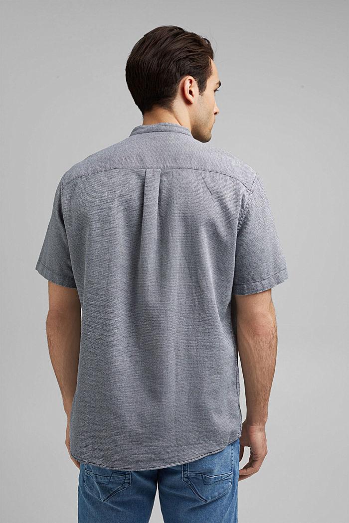 Kurzarm-Hemd mit Struktur, Organic Cotton, NAVY, detail image number 3