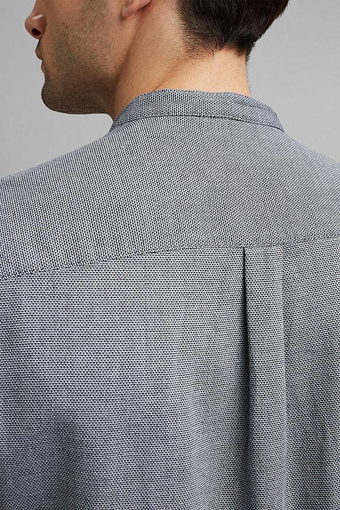 Kurzarm-Hemd mit Struktur, Organic Cotton, NAVY, detail image number 2