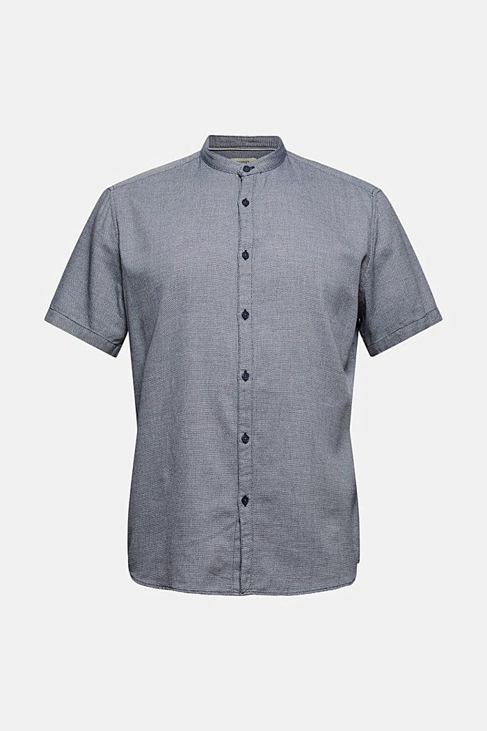 Kurzarm-Hemd mit Struktur, Organic Cotton