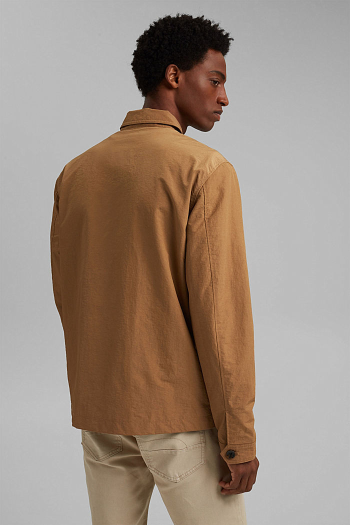 Recycled: safari jacket with mesh lining, CAMEL, detail image number 3