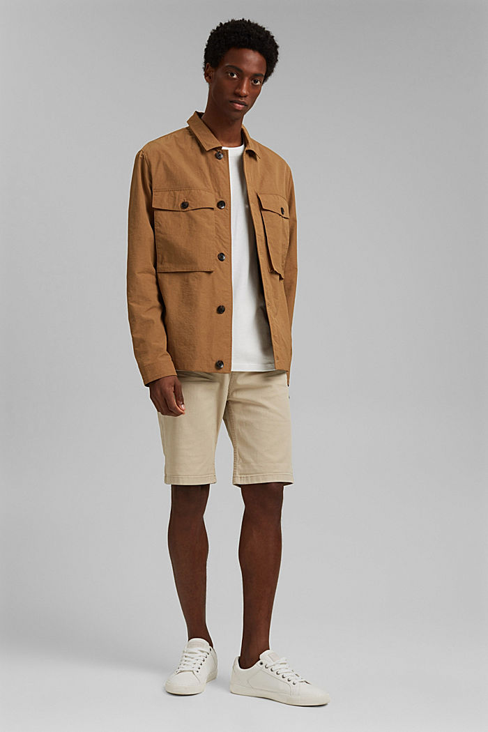 Recycled: safari jacket with mesh lining, CAMEL, detail image number 1