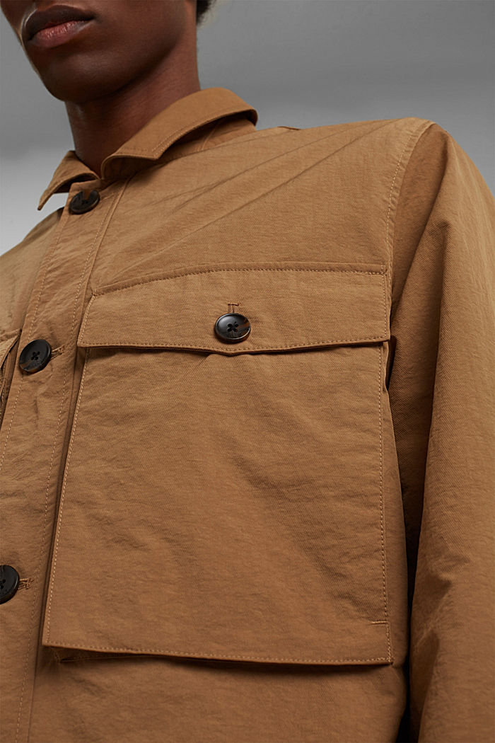 Recycled: safari jacket with mesh lining, CAMEL, detail image number 2
