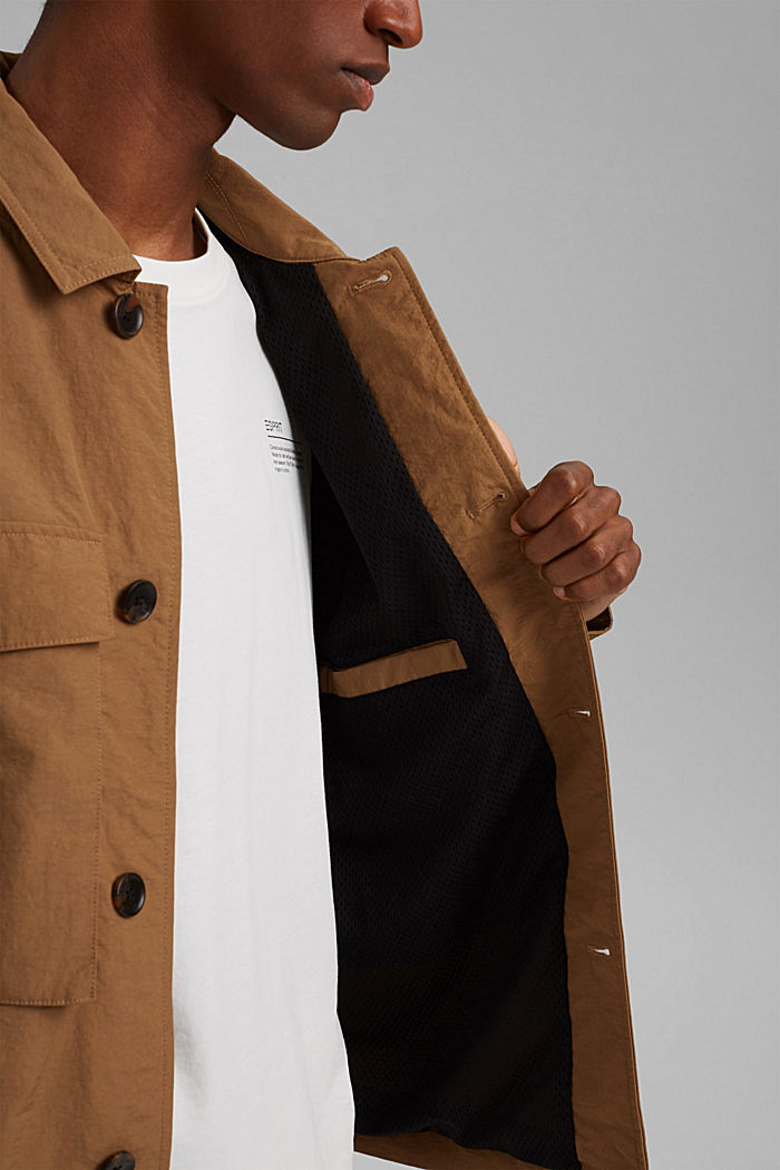 Recycled: safari jacket with mesh lining, CAMEL, detail image number 7