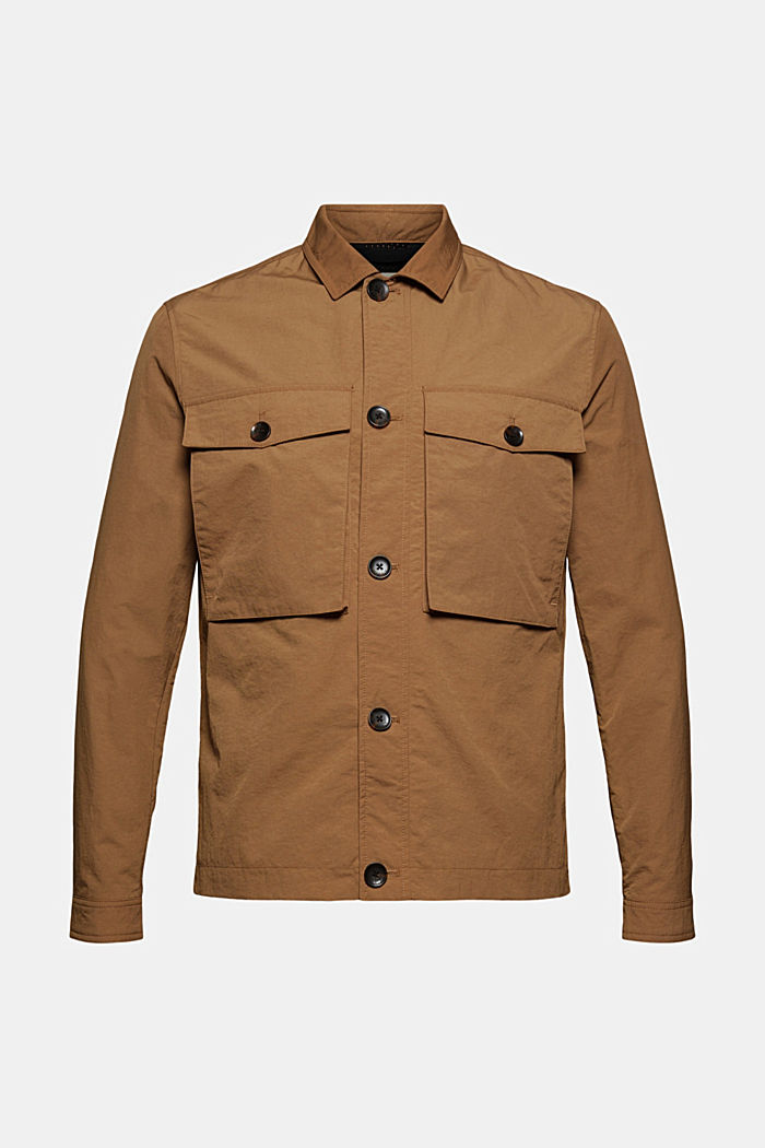 Recycled: safari jacket with mesh lining, CAMEL, detail image number 8