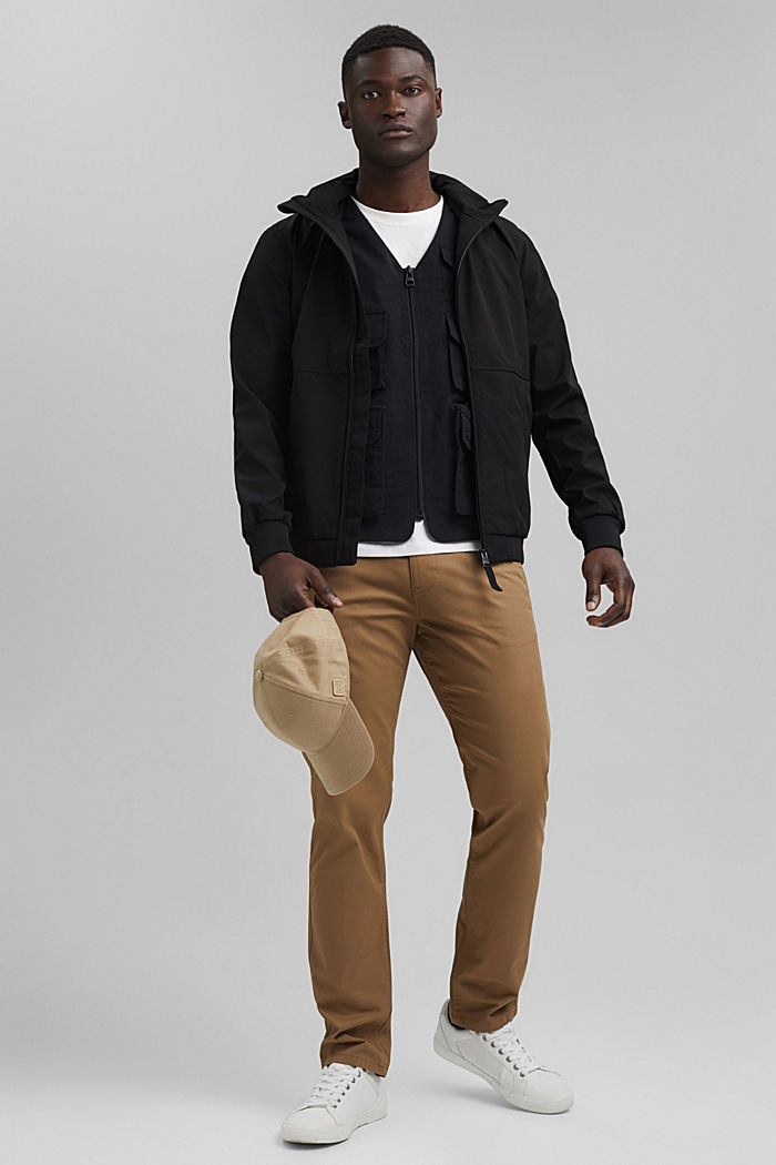 Recycled: outdoor waistcoat in a utility style, BLACK, detail image number 1