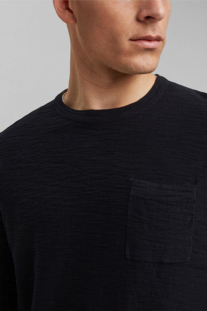 Pullover mit Struktur, 100% Organic Cotton, BLACK, detail image number 2